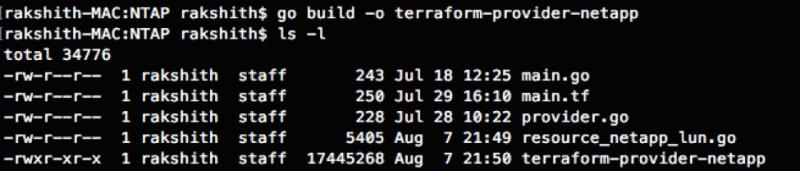 Building the Terraform provider for NSLM using Go