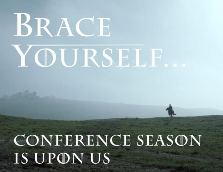 Where Will You Be This Conference Season?